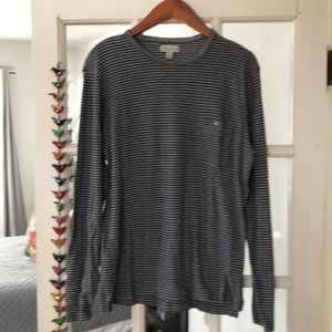 J.Crew Crew Neck Long Sleeve Stripped Tee. M